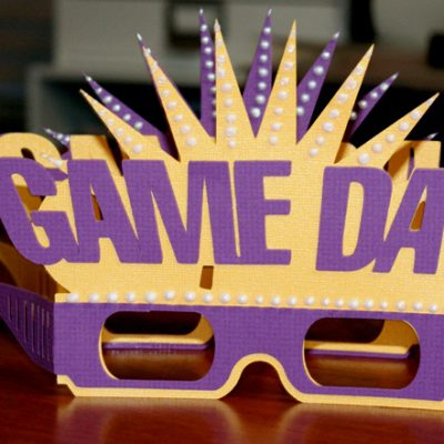 Cricut Life's a Party LSU Football Game Day Glasses – Football Friday