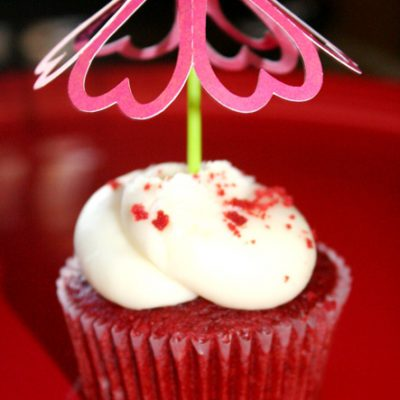 Silhouette Heart Cupcake Topper