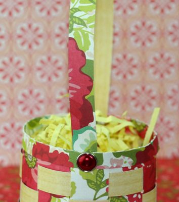 Woven Easter Basket with KNK Zing, Echo Park Paper, Lori Whitlock file