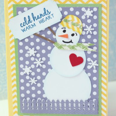 Make a Snowman Card from Paper Punches – Glue Dots Design Team