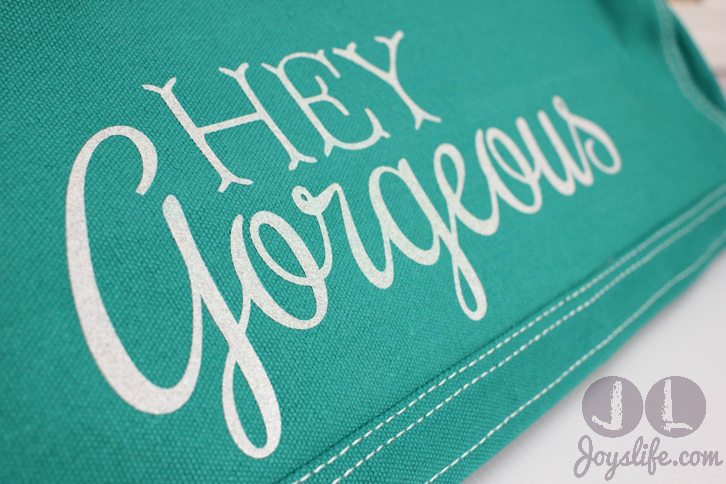 Hey Gorgeous Silhouette Cameo Vinyl Iron On Dust Cover #SilhouetteCameo #IronOnVinyl