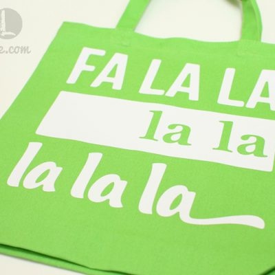FaLaLa Iron On Vinyl Christmas Bag