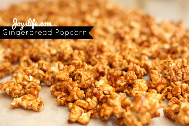 Delicious Gingerbread Popcorn Recipe #EasyGifts #shop #PopcornRecipes