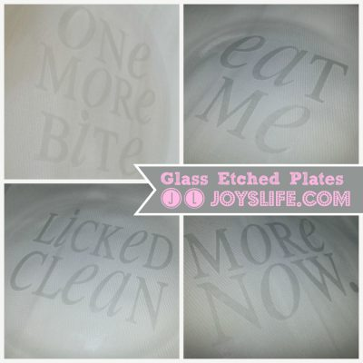 Make Funny Glass Etched Dessert Plates for Gifts