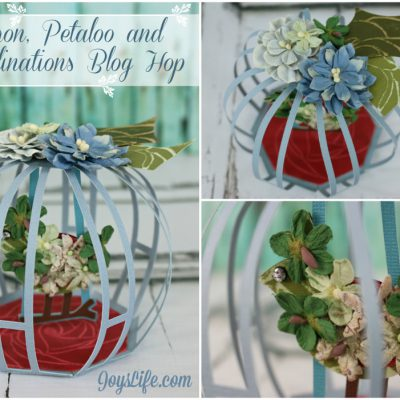 3D Cardstock Floral Birdcage with Xyron, Petaloo and Core'dinations