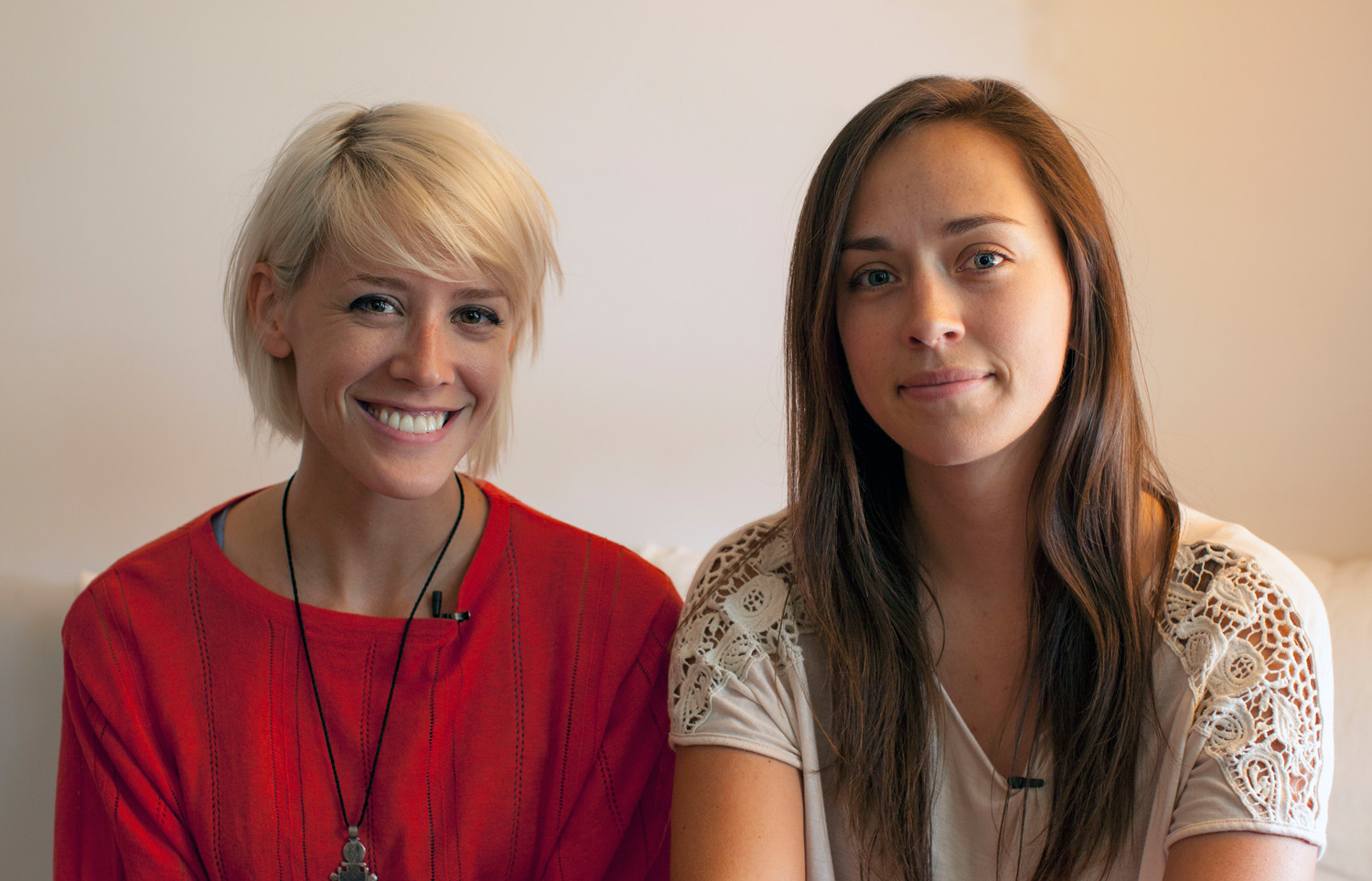 Filmmakers Mo Scarpelli and Alexandria Bombach
