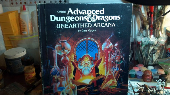 Advanced Dungeons & Dragons, Unearthed Arcana by Gary Gygax. Click to Enlarge.
