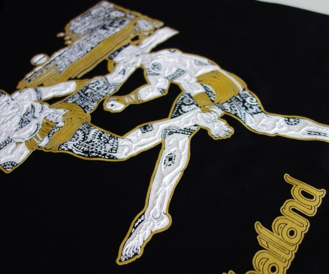 t-shirt-muay-thai-floc-resine-logo