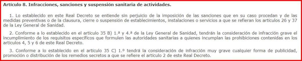 Artículo 8 del RD 1907/1996