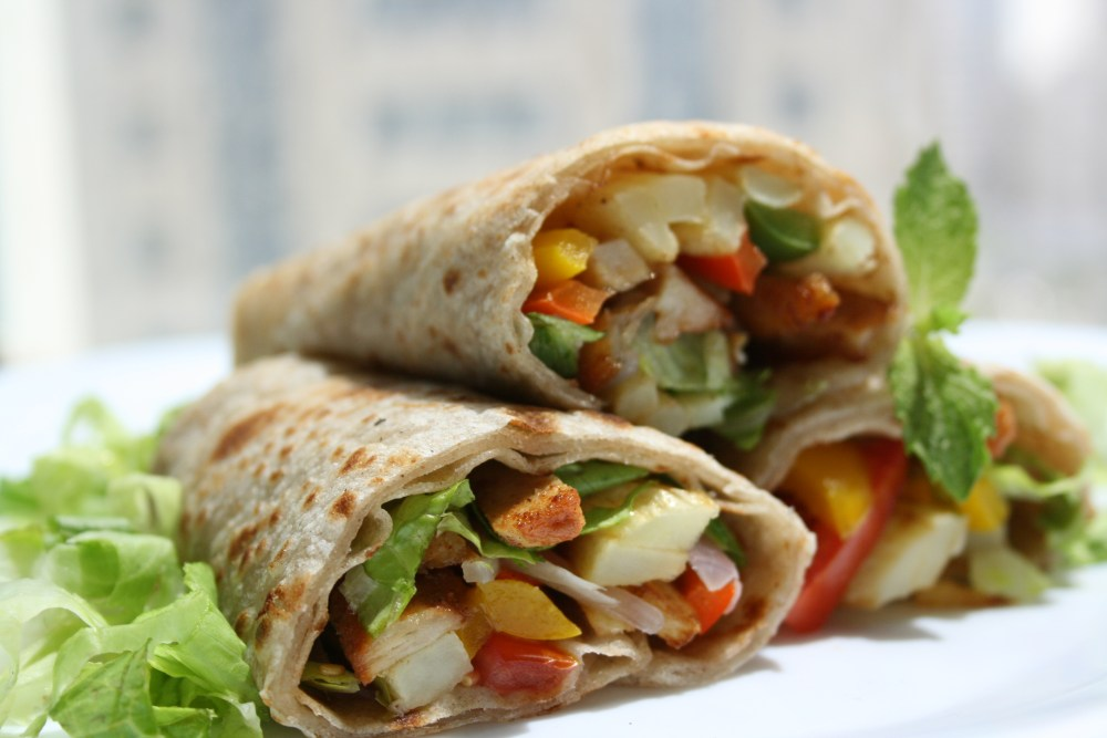Chicken and Vegetable Wraps  (3/3)
