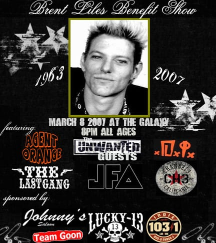 Brent Liles Benefit Show with JFA