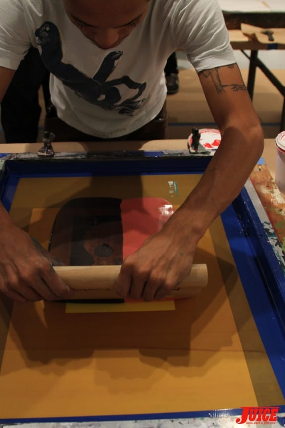 Screen Printing. Photo: Dan Levy