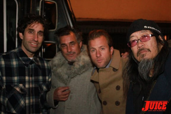 Glen E. Friedman, Steve Olson, Scott Caan and Jeff Ho. Photo: Dan Levy