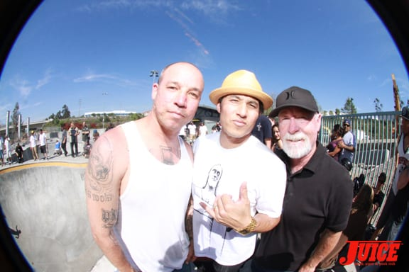 Aaron Murray, Christian Hosoi, Dale Johnson. Photo: Dan Levy