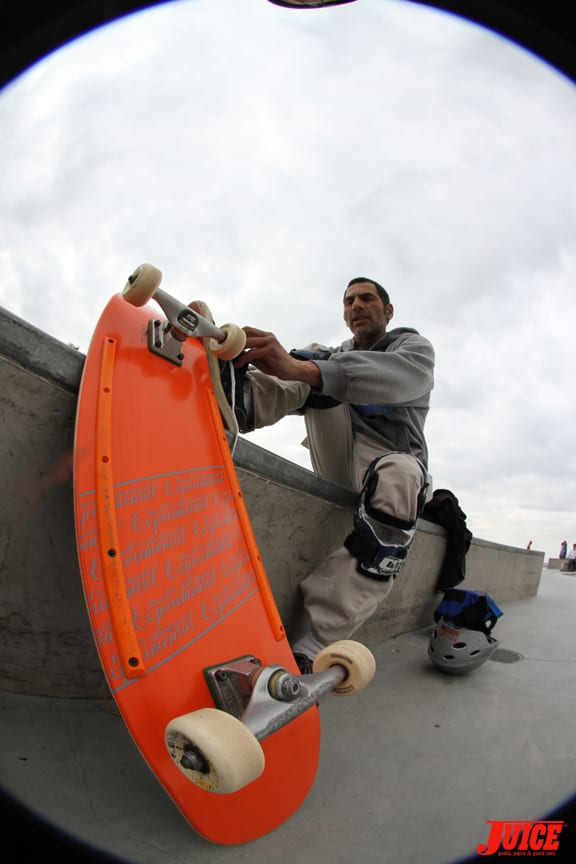 Jesse Martinez testing his Powell Peralta prototype. More announcements coming soon.