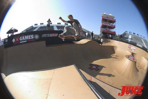 Chad Bartie frontside ollie over the hip