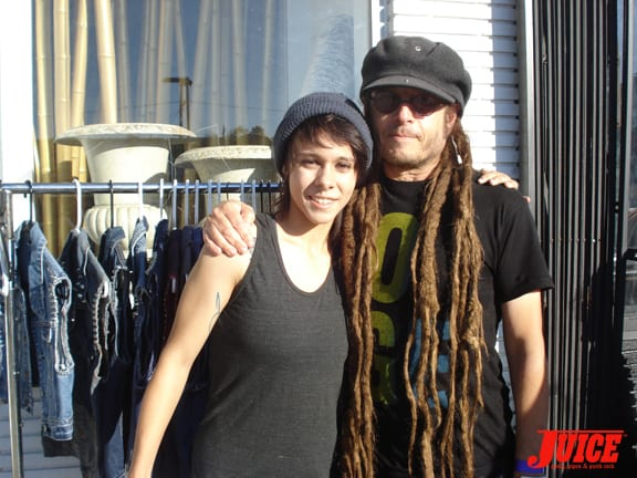 Nancy (Alva) is as tall as Keith Morris' dreads are long.