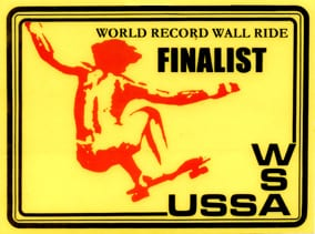 World Record Wall Ride Finalist WSA USSA