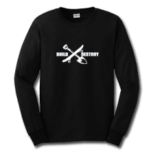 Juice Build and Destroy Black Long Sleeve TShirt