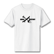 Juice Build and Destroy White Short Sleeve TShirt