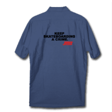 Juice Keep Skateboarding A Crime Work Shirt