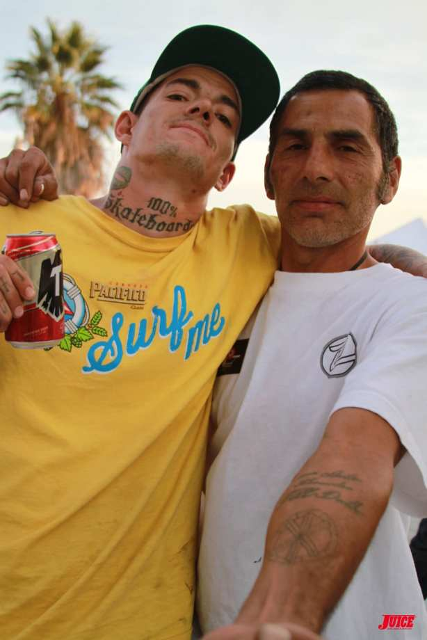 Pink Motel Punker Johnny and Jesse Martinez 100 Percent Skateboarders. Photo: Dan Levy