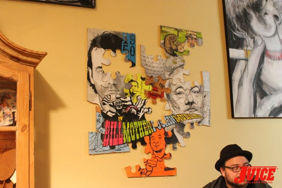 BILL MURRAY PUZZLE ART. PHOTO: VANESSA DAVEY