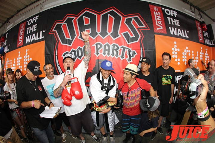 GROSSO, MILLER, HOSOI. VANS POOL PARTY 2014. PHOTO BY DAN LEVY