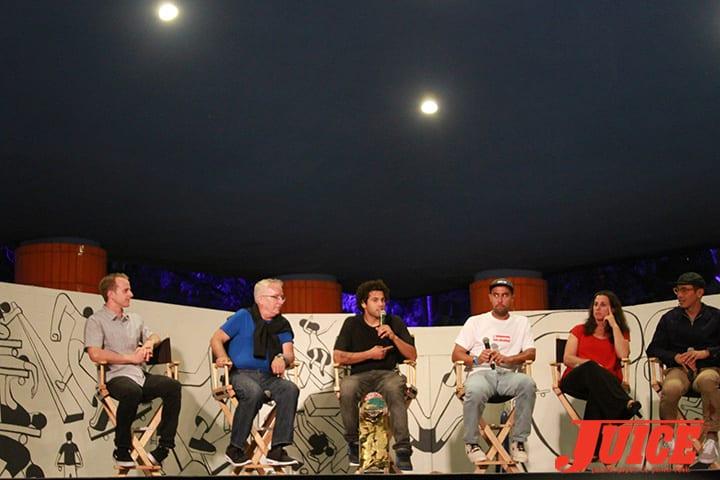 ALEC BECK, WEST LA NEIGHBORHOOD COUNCIL CHAIR, JAY HANDAL, PAUL RODRIGUEZ, ERIC KOSTON. WEST L.A. COURTHOUSE. PHOTO BY DAN LEVY.
