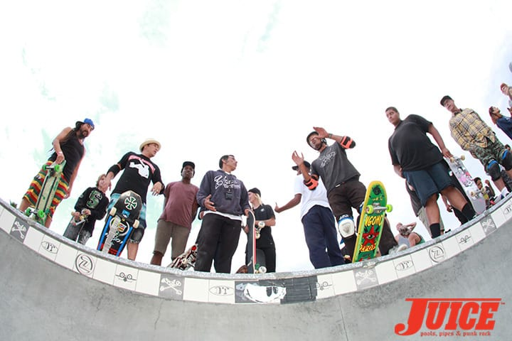 BENNETT HARADA, CHRISTIAN HOSOI, JESSE MARTINEZ, PAT NGOHO. SHOGO KUBO MEMORIAL SKATE SESSION VENICE. PHOTO BY DAN LEVY