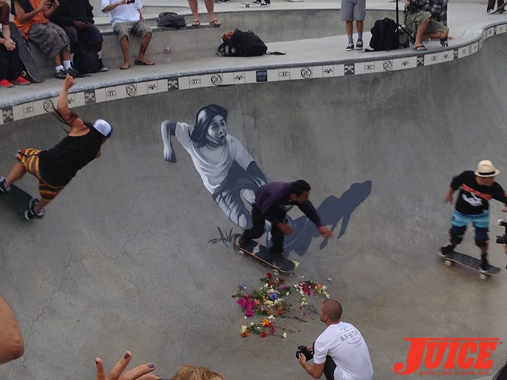 BENNETT HARADA, JESSE MARTINEZ, CHRISTIAN HOSOI. SHOGO KUBO MEMORIAL SKATE SESSION VENICE. PHOTO BY TERRI CRAFT