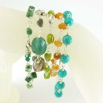Wire Wrapped Gemstone Bracelets - Jularee Handmade Jewelry