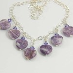 Lepidolite necklace - Jularee Handmade Jewelry