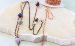 Dirty jewelry - copper necklace