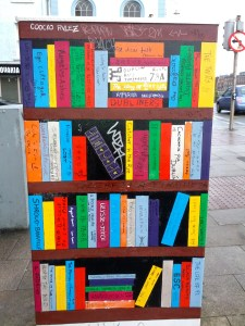 Book depot on the street,