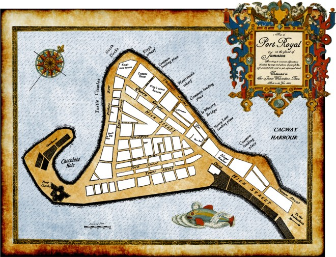 Port Royal map for the Pirates of Port Royal series