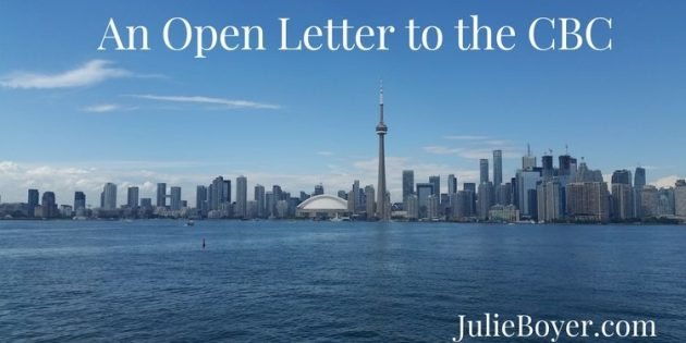 open letter to the CBC