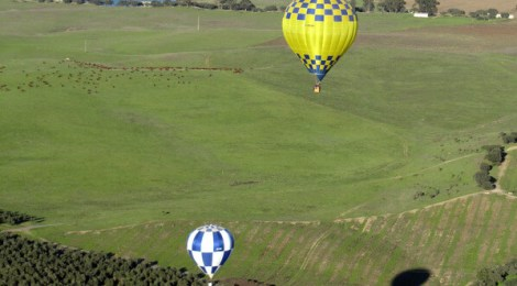 My dream-come-true hot air balloon ride.