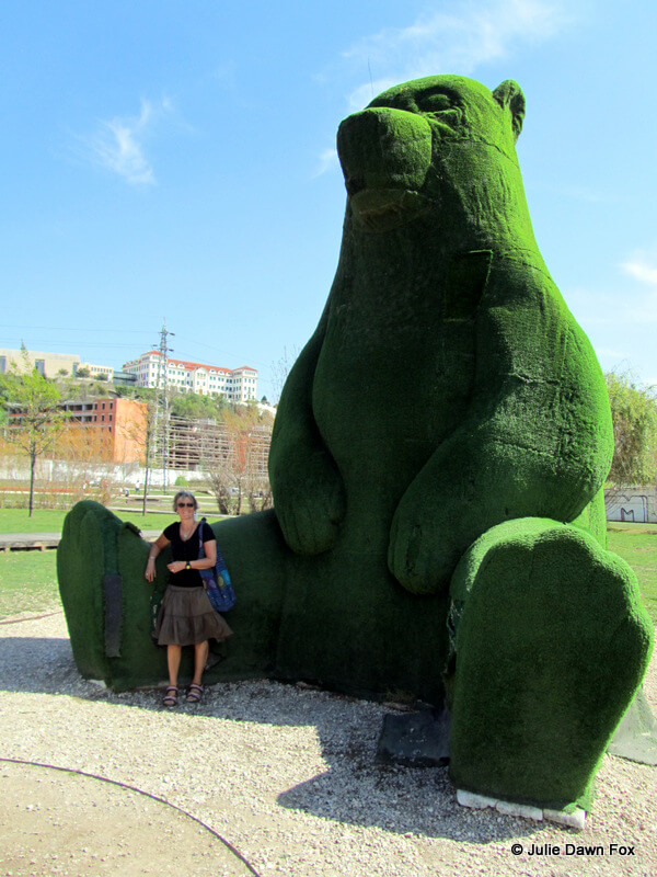 The big green bear, Green Park, Coimbra