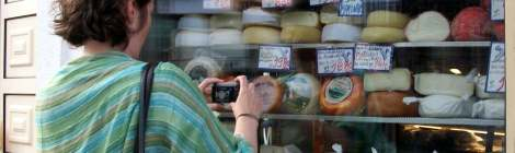 Photographing Portuguese cheese, Porto. Photo by Valerie Crighton
