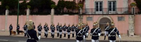 Changing of the Guard involves lots of marching!