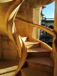 curved stone stairs, Convent of Christ, Tomar
