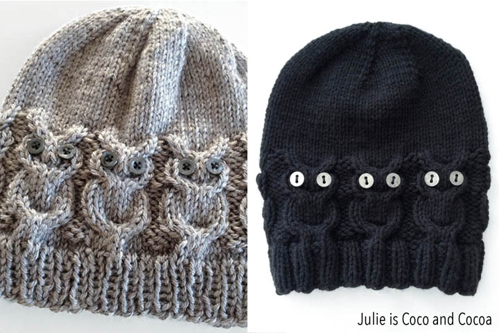 Free Crochet Pattern For Child s Owl Hat : Owl Hat Knit Pattern - Julie is Coco and Cocoa