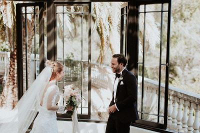 Romantic Dusty Rose French Riviera Wedding at Chateau ...