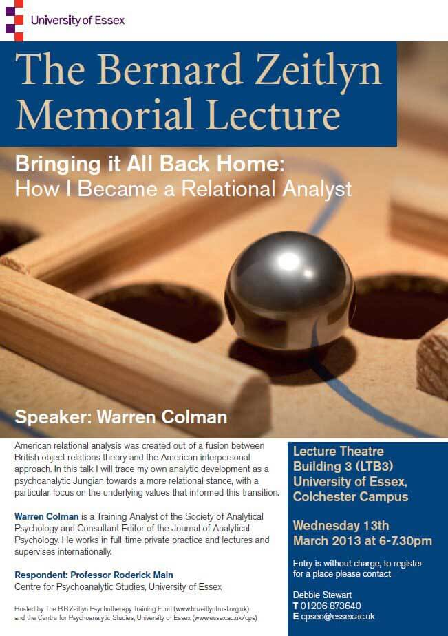 The Bernard Zeitlyn Memorial Lecture