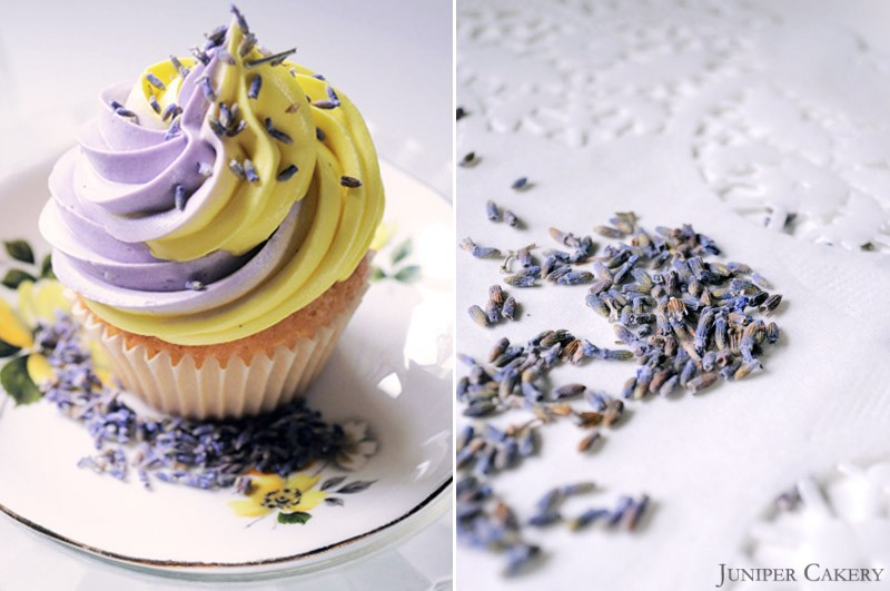 Lemon and Lavender cupcakes by Juniper Cakery