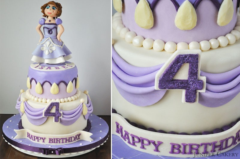 Sofia The First Cake Design Goldilocks : Sofia the First Birthday Cake - Juniper Cakery Bespoke ...