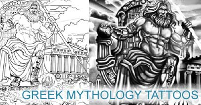 greek mythology tattoo,tattoo template,zeus tattoo template,poseidon tattoo,300 tattoo