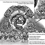 lotus flower tattoo, tibetan flames tattoo, om tattoo