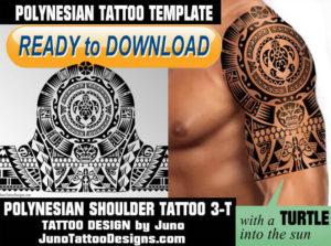 polynesian shoulder tattoo, polynesian turtle tattoo template, juno tattoo designs